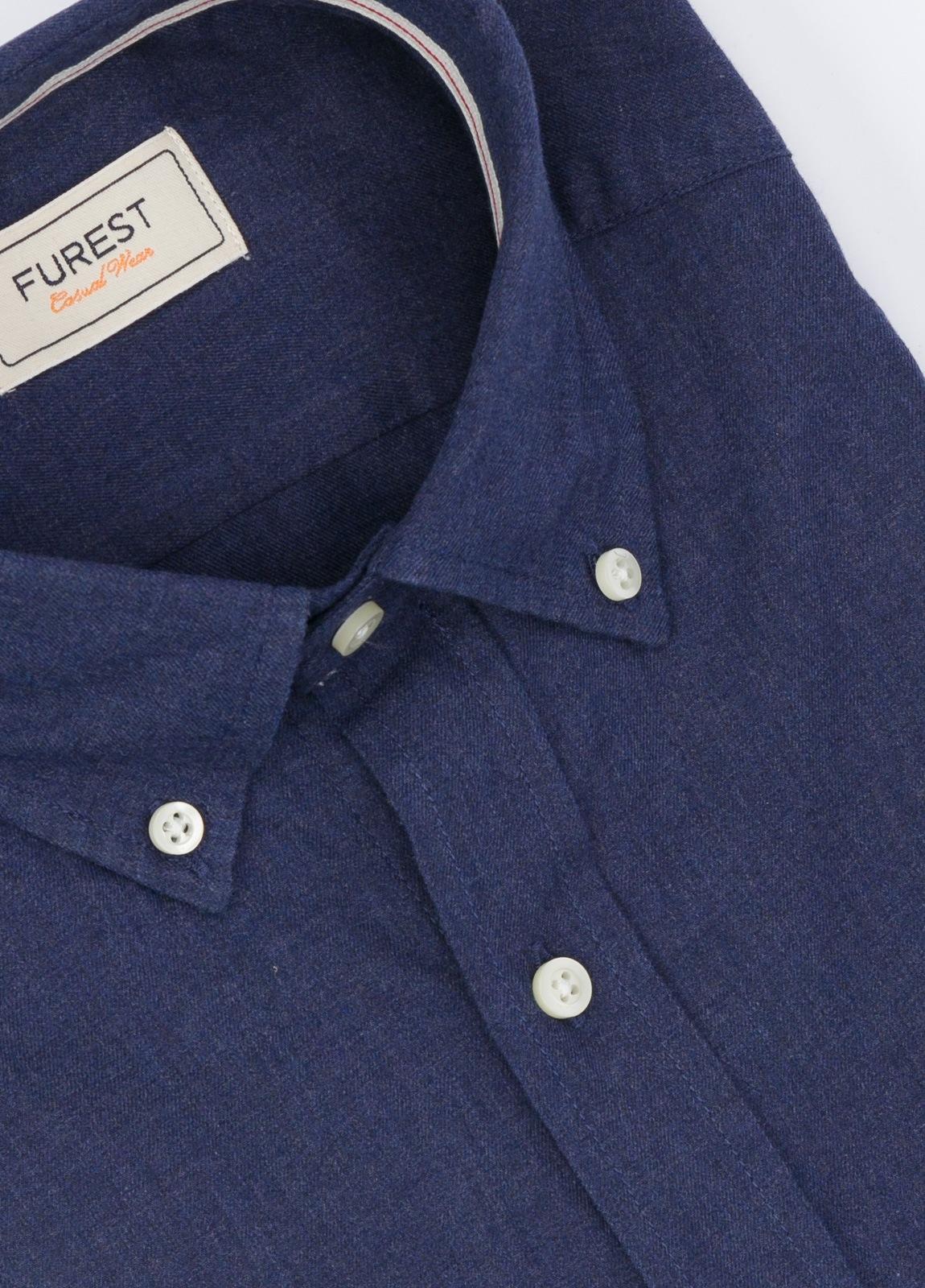 Camisa Leisure Wear SLIM Botón Down, color azul noche. 100% Algodón. - Ítem1