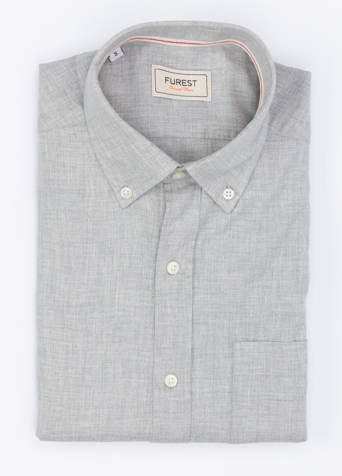 Camisa Leisure Wear SLIM B.D,color gris. 100% Algodón.