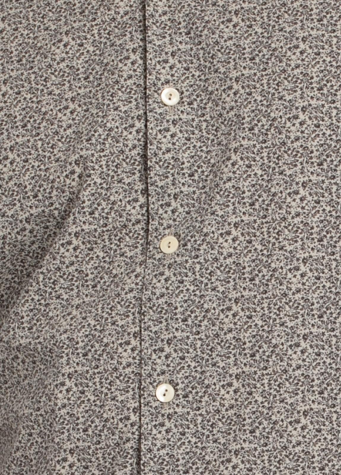 Camisa sport SLIM FIT con estampado floral en tonos piedra. 100% Algodón. - Ítem2