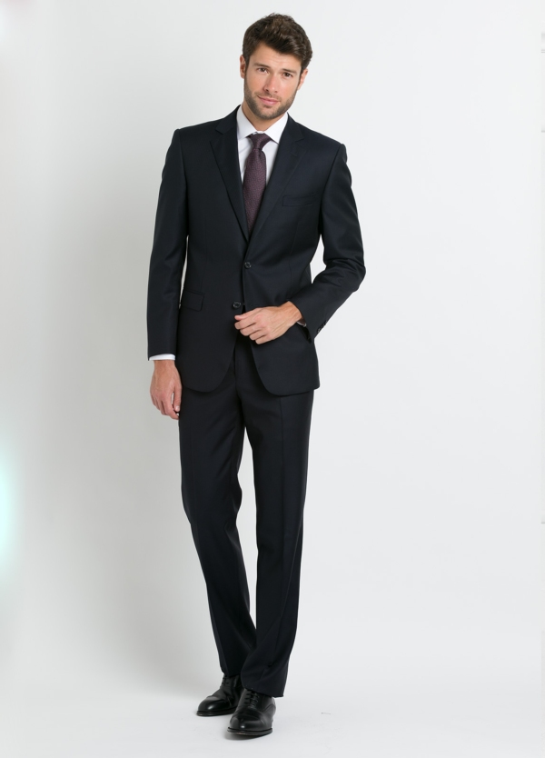 Traje liso REGULAR FIT, tejido GUABELLO, color gris marengo, 100% Lana.