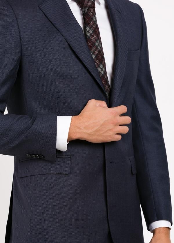 Traje liso REGULAR FIT, tejido CARLO BARBERA, color azul marino, 100% Lana. - Ítem3