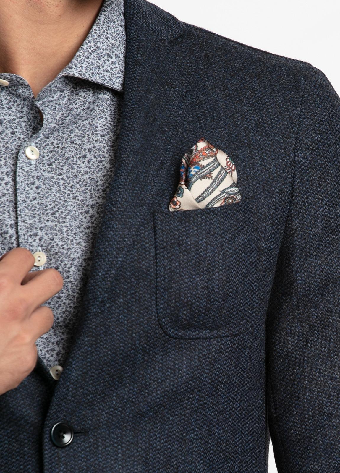 Americana SOFT JACKET Slim Fit, tejido textura color azul oscuro. 97% Lana, 3% Cashmere. - Ítem4