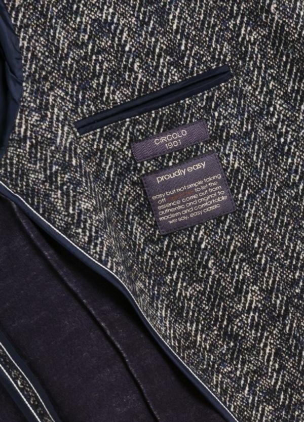 Americana soft 2 botones SLIM FIT Espiga color azul, 95% Algodón 5% Ea. - Ítem1