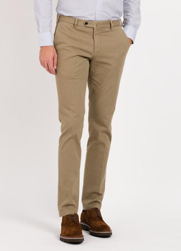 Pantalon Chino Modelo Santa Color Beige 98 Algodon 2 Elastan