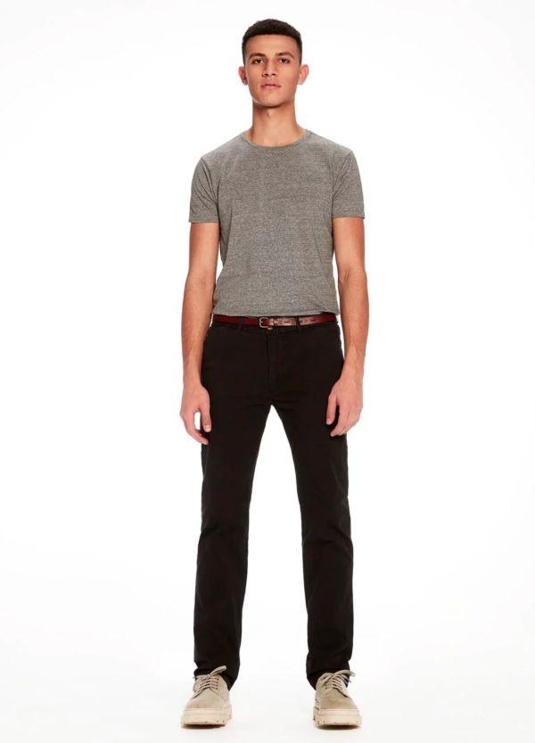 Pantalón chino, Slim Fit con cinturón, color azul marino, 97% Algodón, 3% Ea.