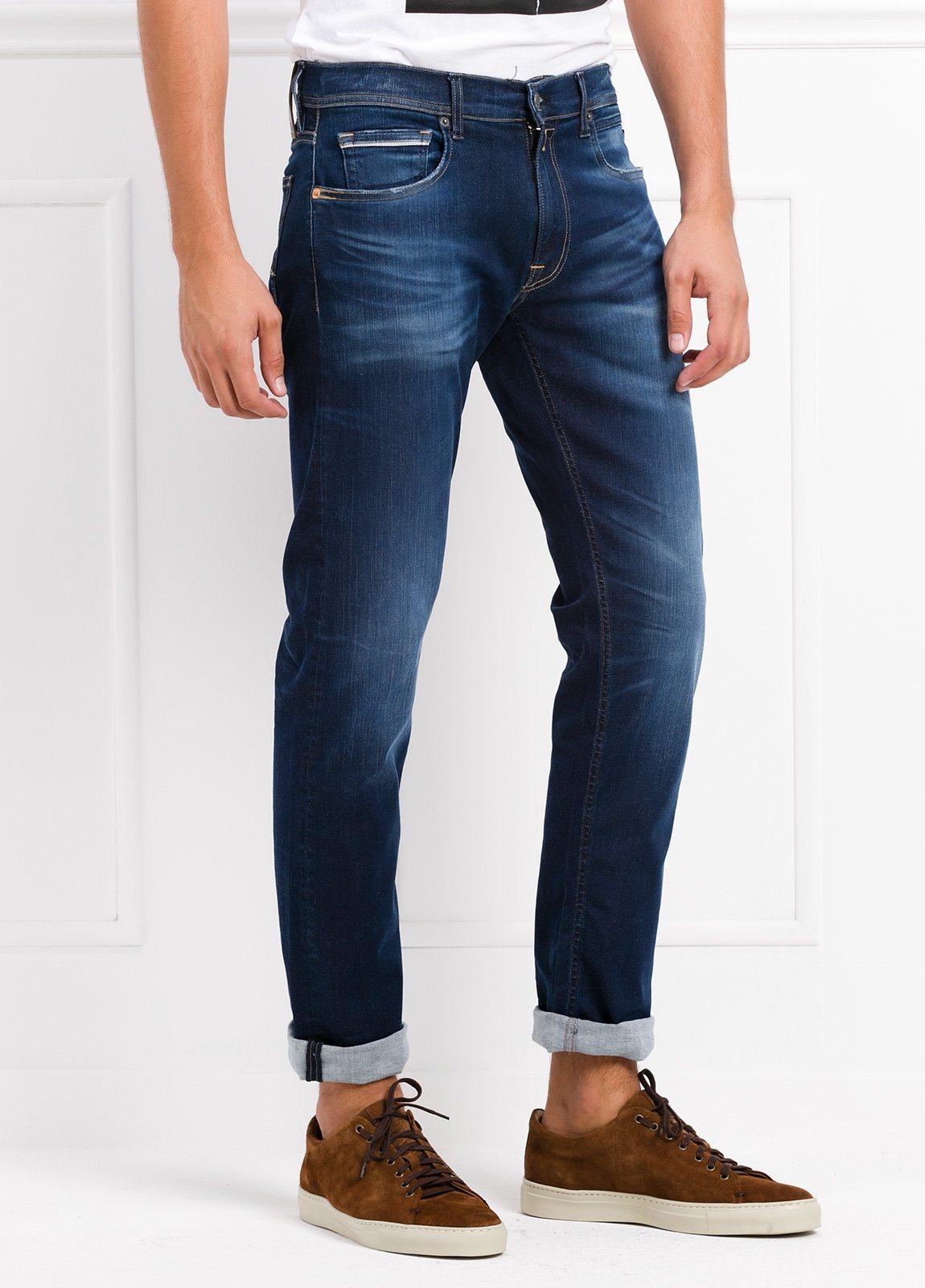 Pantalón tejano corte recto MA972 GROVER color azul lavado. Algodón - Ítem1