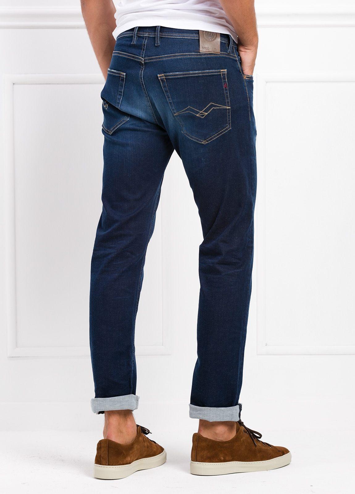 Pantalón tejano corte recto MA972 GROVER color azul lavado. Algodón - Ítem2