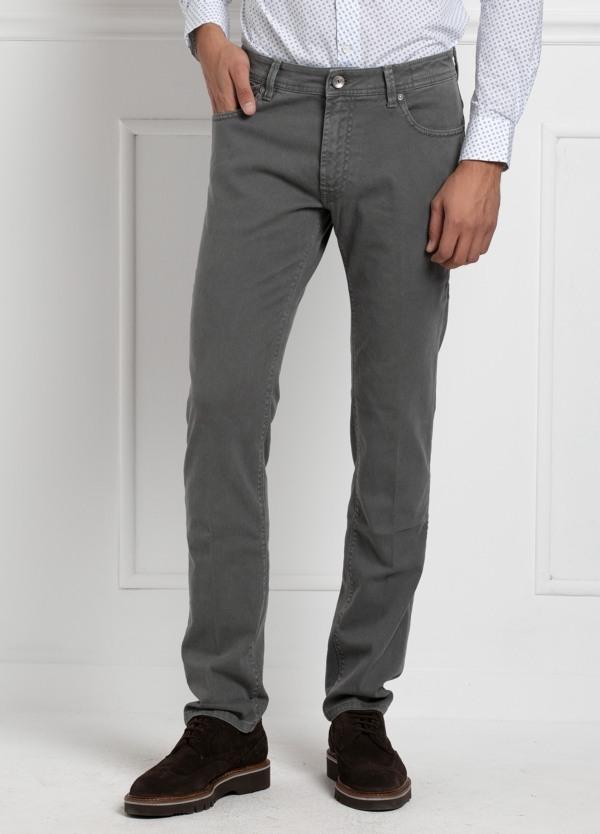 Pantalón sport 5 bolsillos slim fit modelo HOPPER color gris. Algodón