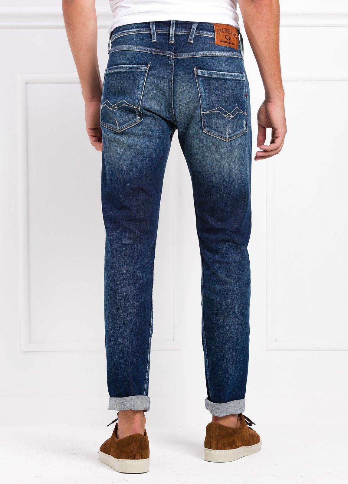 Pantalón tejano 12,5 oz SLIM 914J ANBASS color azul lavado. 98% Algodón. 2% Elastano. - Ítem2