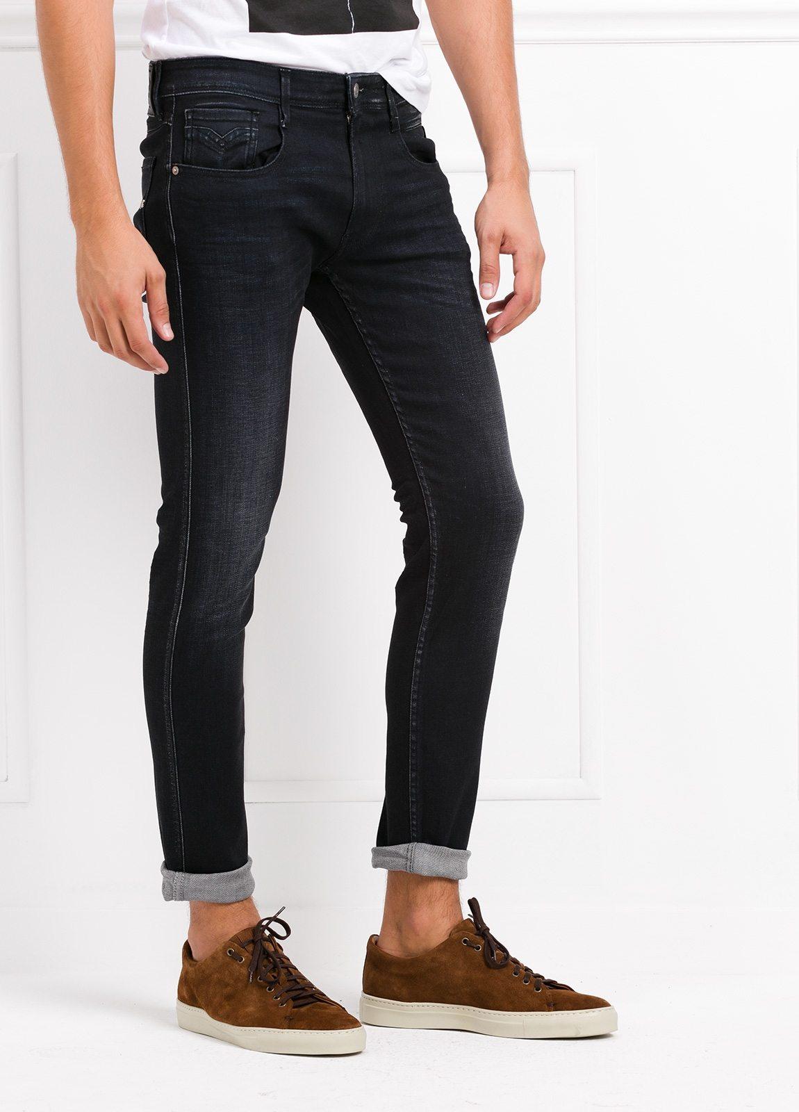 Pantalón tejano 12,5 oz SLIM 914J ANBASS color negro encerado. 90% Algodón 6% Pol. 4% Elastano. - Ítem2