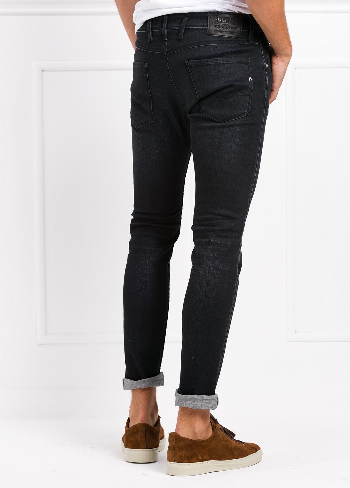 Pantalón tejano 12,5 oz SLIM 914J ANBASS color negro encerado. 90% Algodón 6% Pol. 4% Elastano. - Ítem3