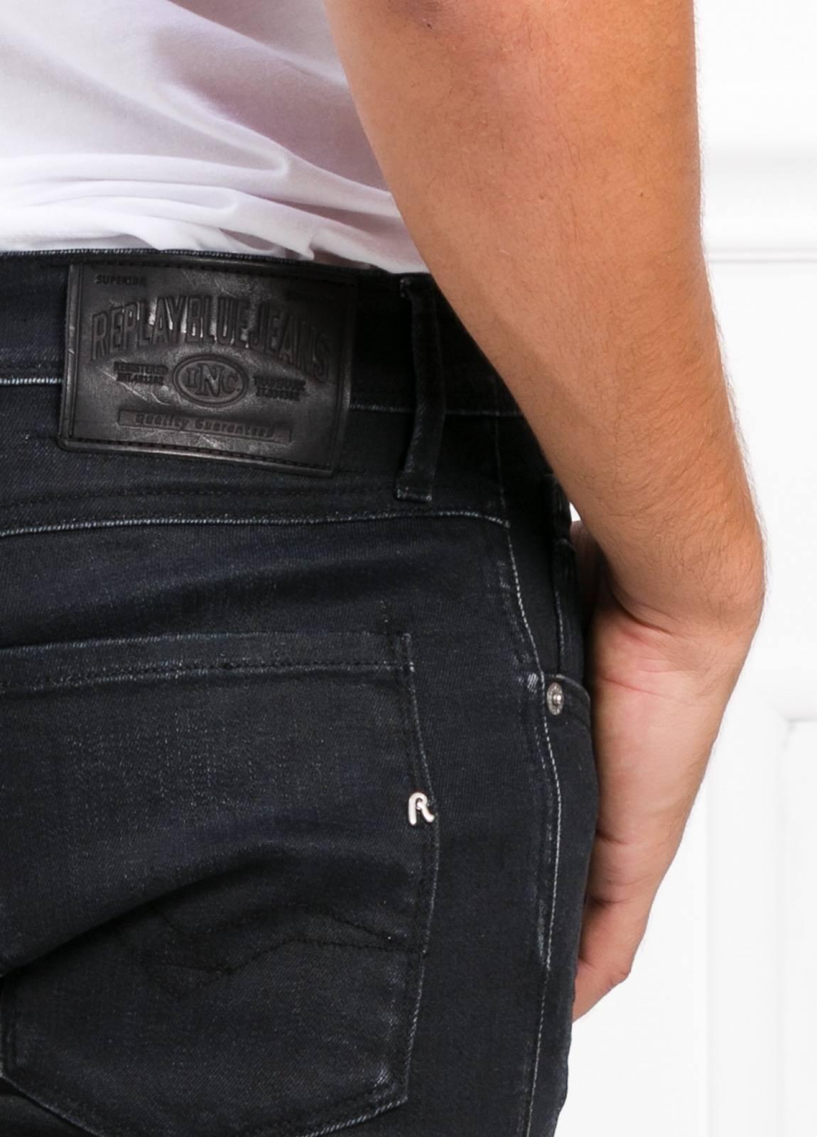 Pantalón tejano 12,5 oz SLIM 914J ANBASS color negro encerado. 90% Algodón 6% Pol. 4% Elastano. - Ítem1