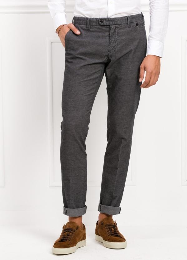 Pantalón sport chino modelo JACK 02 color antracita, 98% Algodón, 2% Ea.