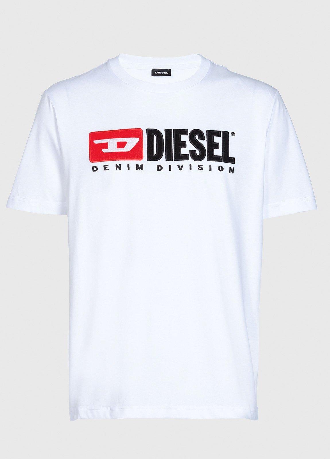 Camiseta básica m/corta de corte recto y logo años 90. Color blanco. 100% algodón. - Ítem1