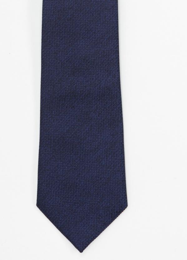Corbata Formal Wear microtextura color azul noche. Pala 7,5 cm. 100% Seda.