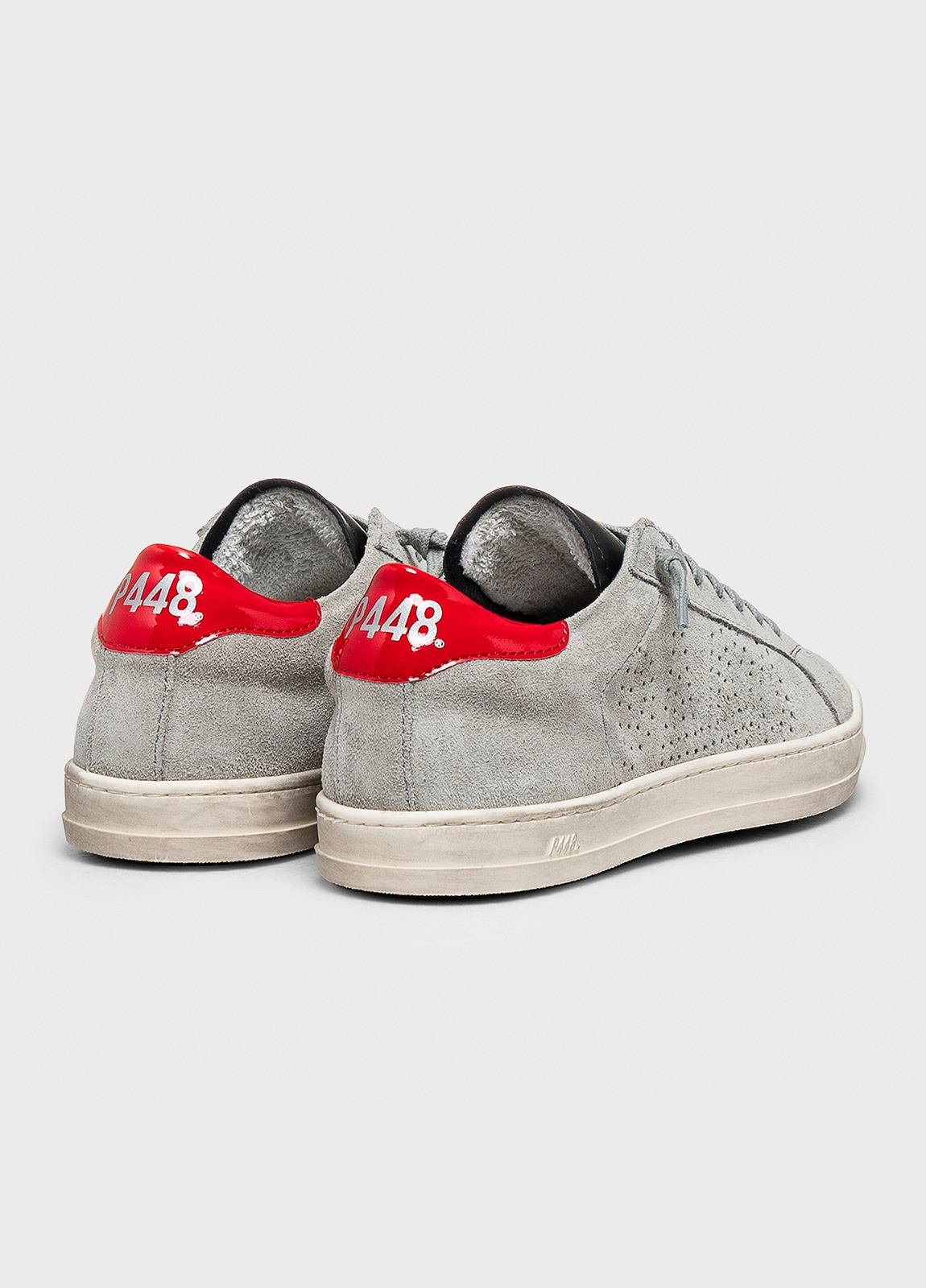 Calzado sport modelo JOHN color gris. Serraje. - Ítem2