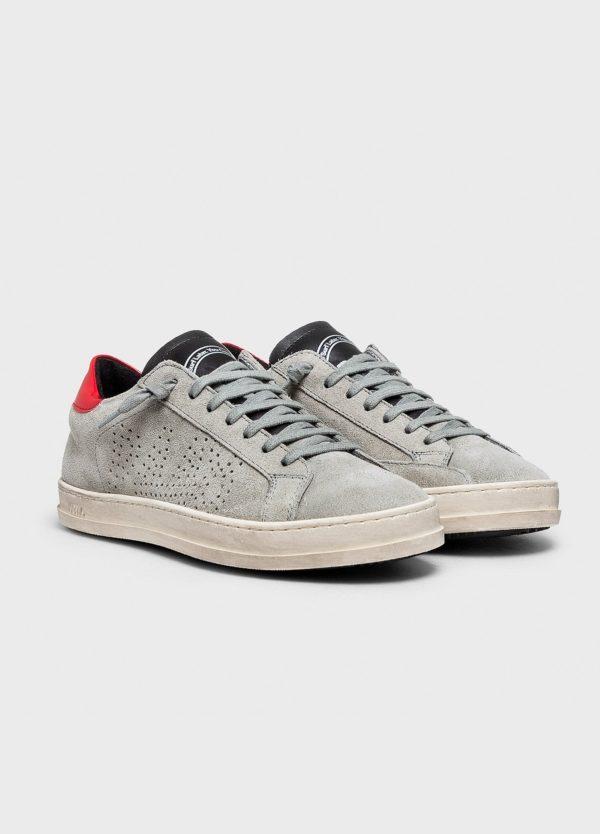 Calzado sport modelo JOHN color gris. Serraje. - Ítem1