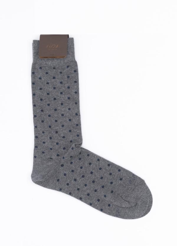 Calcetín corto color gris, 100% Algodón.