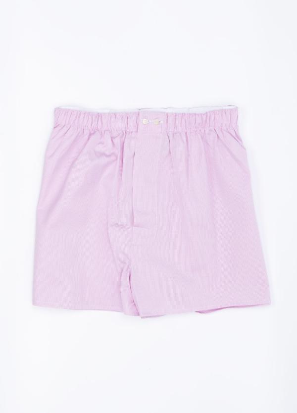 Boxer estampado cuadro vichy rosa, 100% Algodón. Bolsa incluida del mismo tejido.