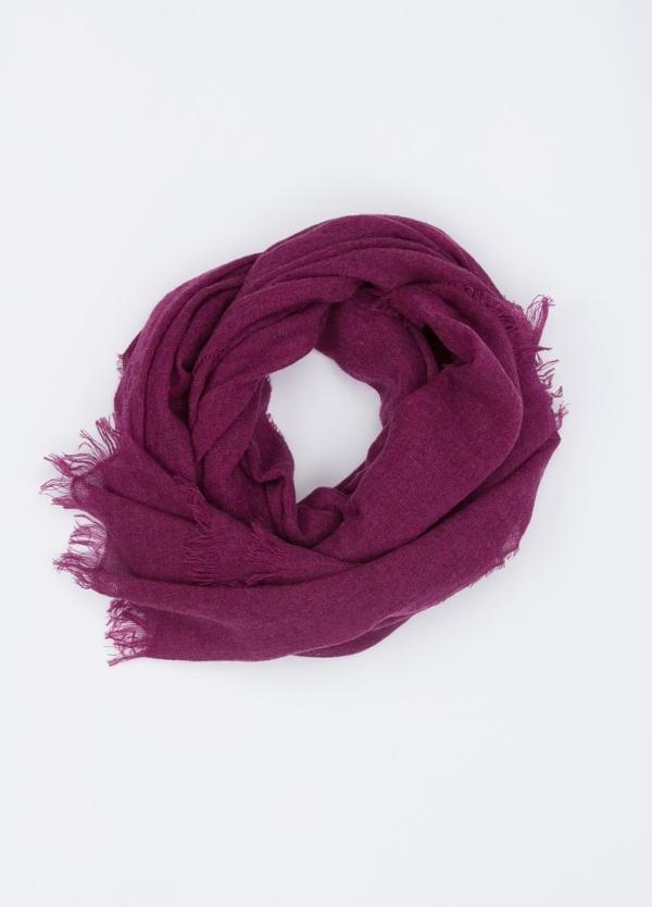 Foulard liso color fucsia , 75x180cm, 100% cashemere