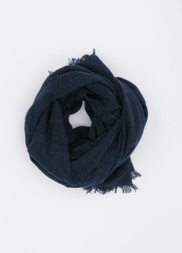 Foulard liso color azul marino, 75 x 180 cm, 100% cashemere