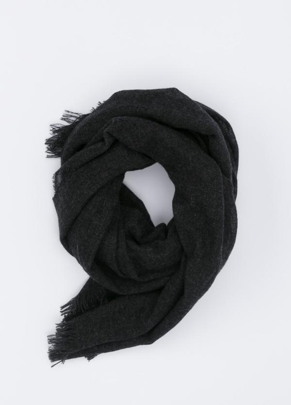 Foulard liso color gris marengo, 75 x 180 cm, 100% cashemere