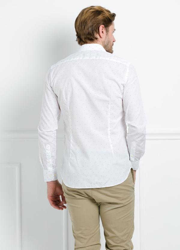 Camisa Formal Wear REGULAR FIT cuello italiano modelo TAILORED NAPOLI diseño de rayas color celeste, 100% Algodón. - Ítem4