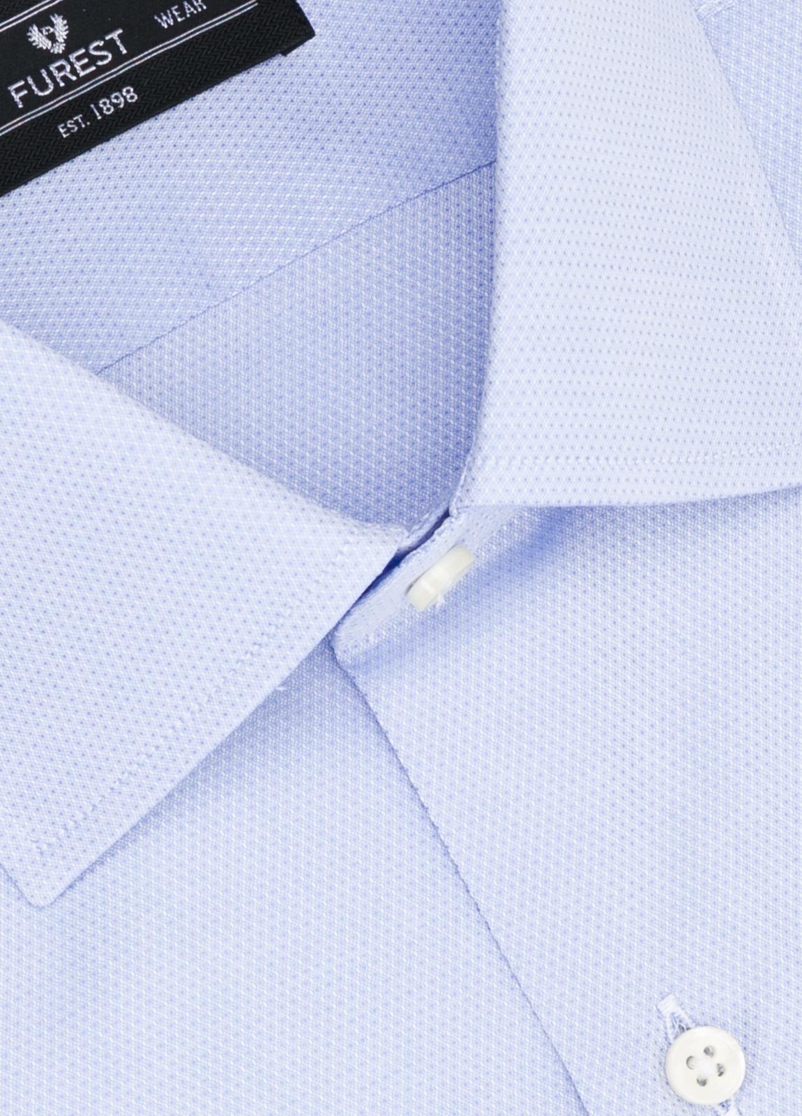 Camisa Formal Wear SLIM FIT cuello italiano modelo ROMA micro grabado color celeste, 100% Algodón. - Ítem1