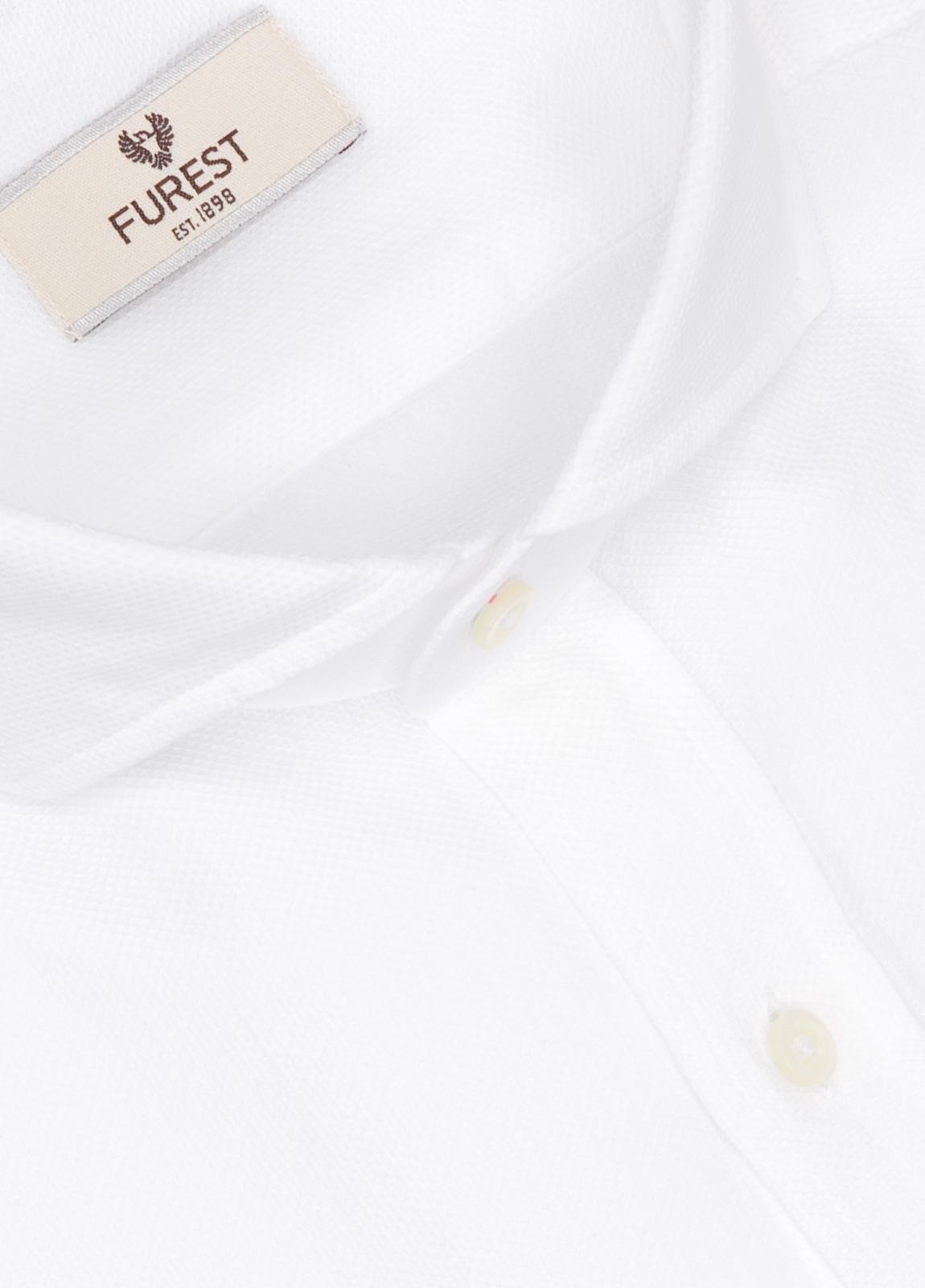 Camisa Leisure Wear SLIM FIT Modelo CAPRI micro textura color blanco. 100% Algodón. - Ítem1