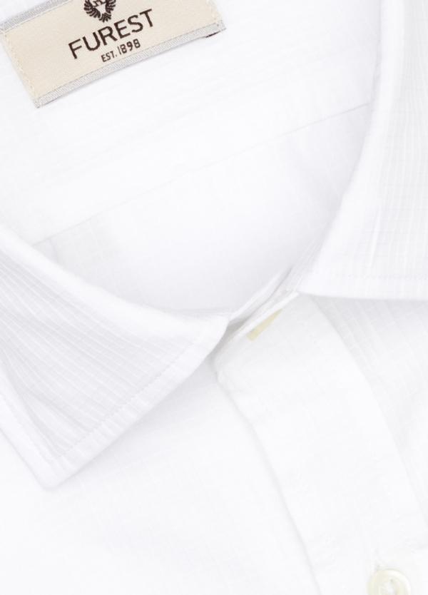Camisa Leisure Wear SLIM FIT modelo PORTO micro raya color blanco. 100% Algodón. - Ítem1
