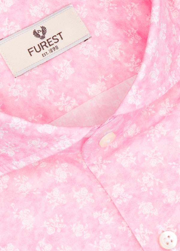 Camisa Leisure Wear SLIM FIT Modelo CAPRI color rosa con estampado floral. 100% Algodón. - Ítem1