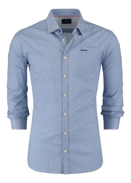 Camisa Sport dibujo color azul, 100% Algodón. - Ítem2