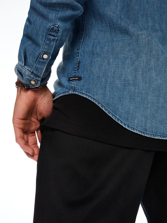 Camisa tejana, regular fit con efecto bolsillo arrancado. 100% algodón - Ítem2