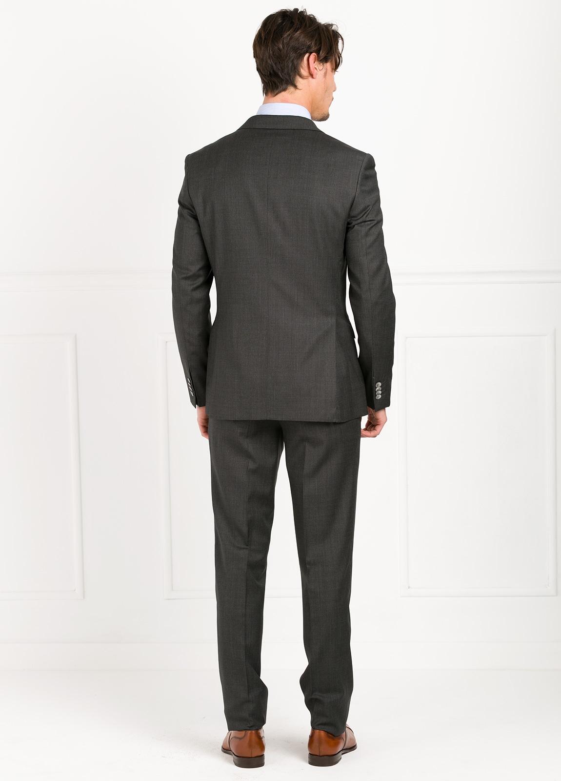 Traje liso SLIM FIT, tejido GUABELLO color gris marengo, 100% Lana. - Ítem3
