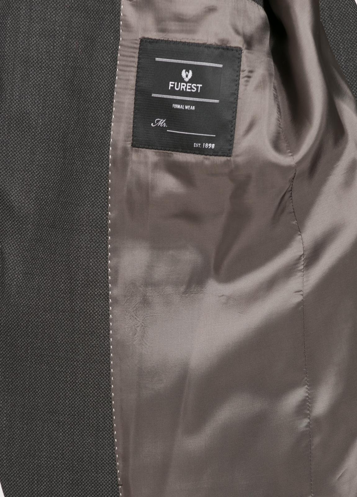 Traje liso SLIM FIT, tejido GUABELLO color gris marengo, 100% Lana. - Ítem4