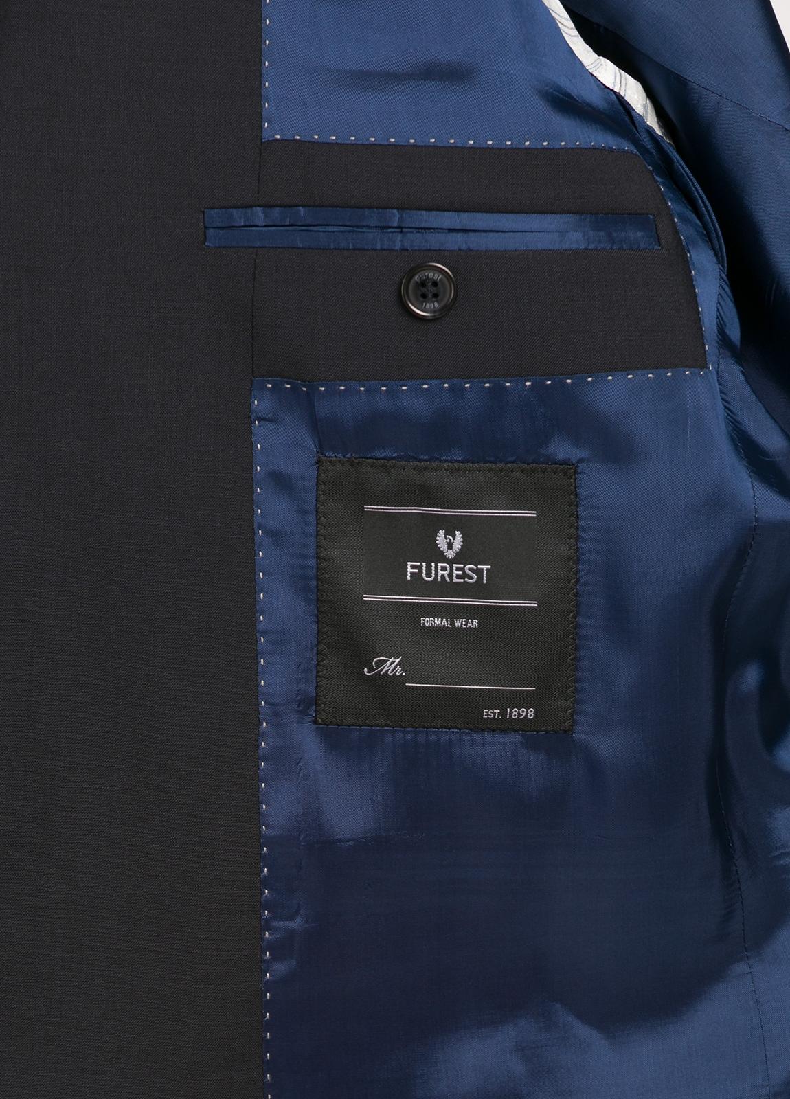 Traje liso SLIM FIT, tejido MARZOTTO, color azul marino, 100% Lana Virgen. - Ítem2