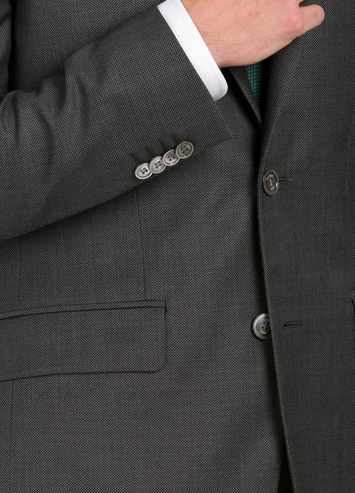 Traje liso SLIM FIT, tejido COMERO color gris, 100% Lana Virgen. - Ítem4
