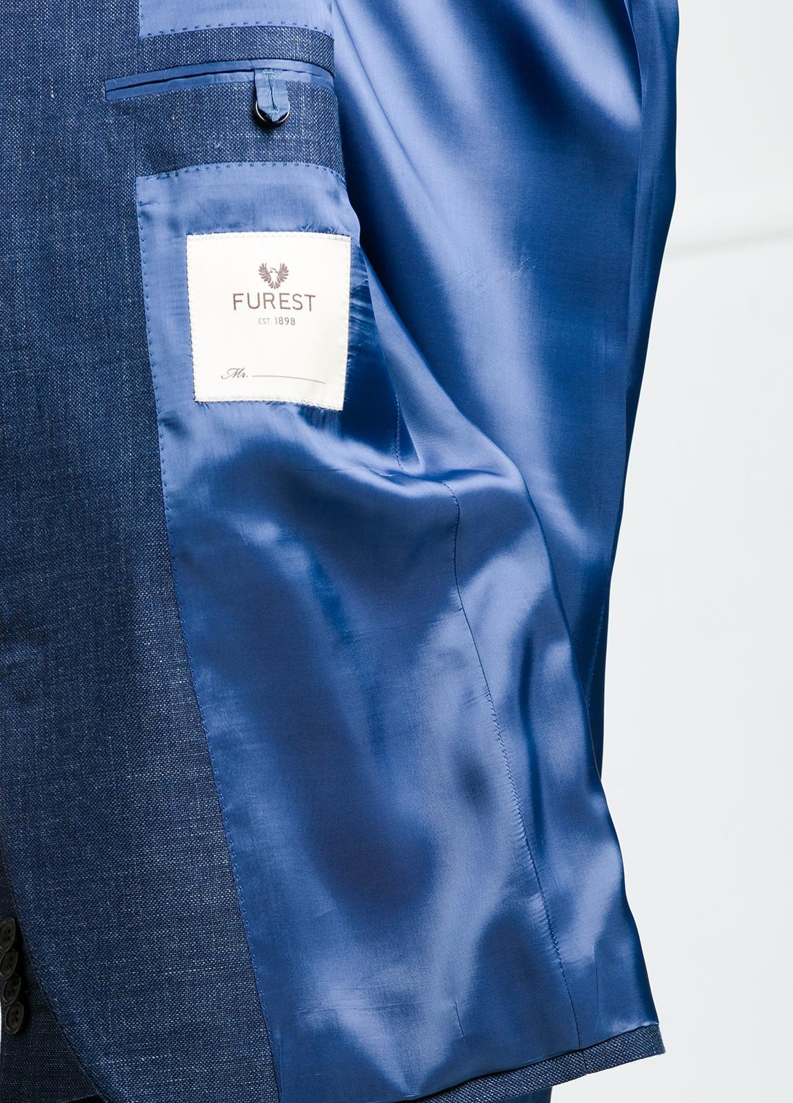 Americana Slim Fit color azul marino. 55% Lino 45% Lana. - Ítem1