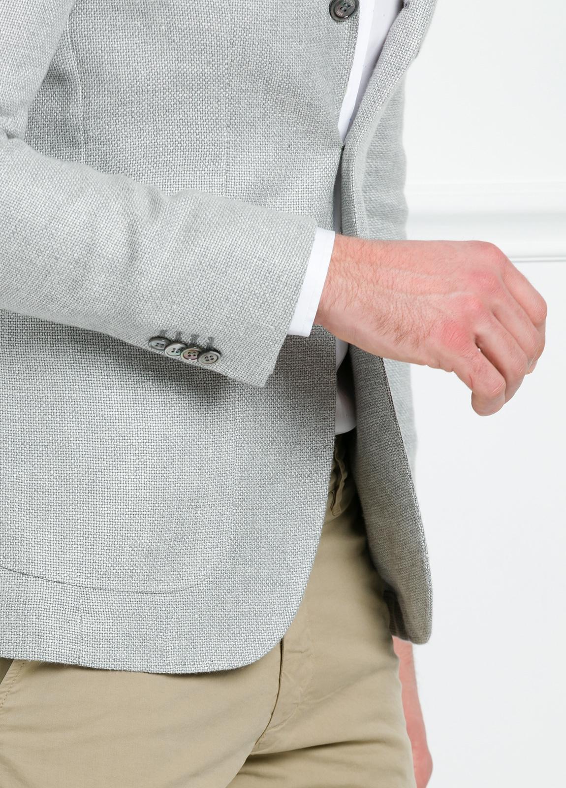 Americana SOFT JACKET Slim Fit textura color gris. 75% Cáñamo 25% lana. - Ítem2