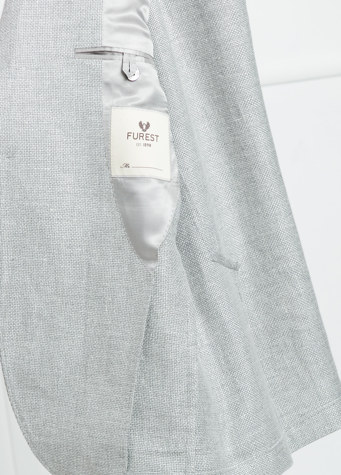 Americana SOFT JACKET Slim Fit textura color gris. 75% Cáñamo 25% lana. - Ítem3