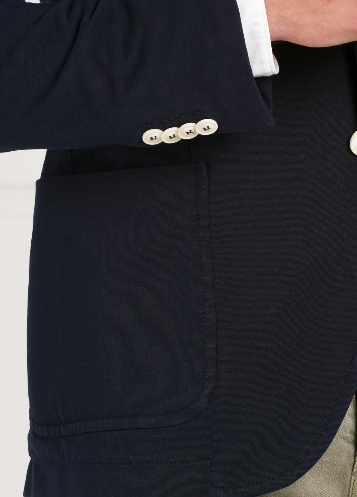 Americana soft 2 botones SLIM FIT liso color azul marino, Algodón. - Ítem1