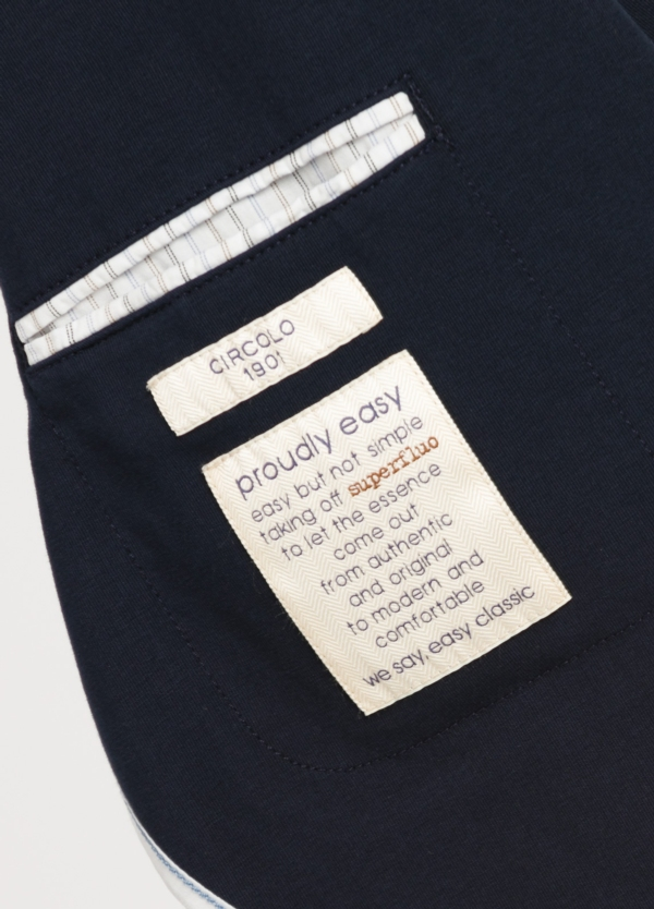 Americana soft 2 botones SLIM FIT liso color azul marino, Algodón. - Ítem2