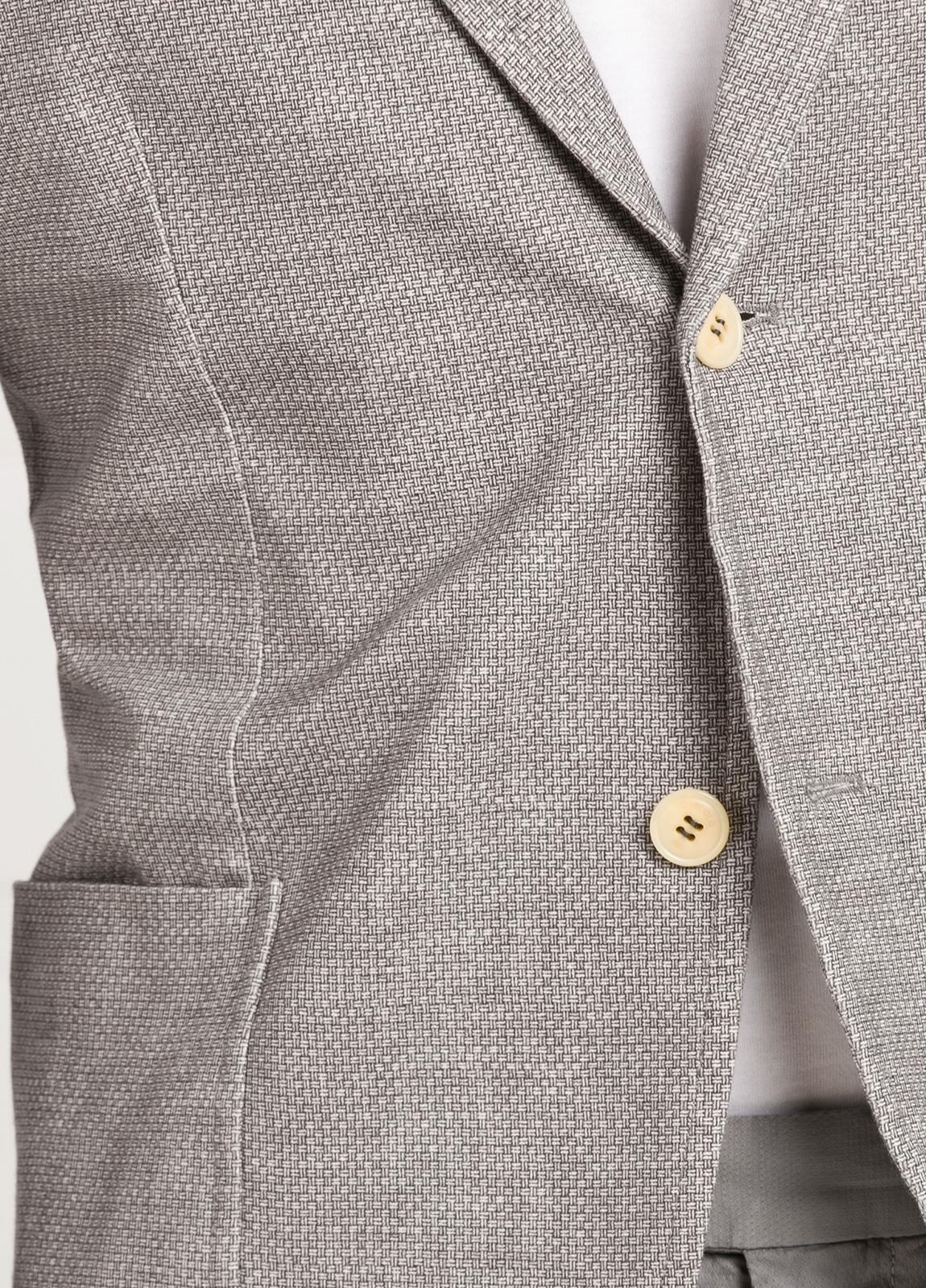 Americana soft 2 botones SLIM FIT esterilla color gris, Algodón. - Ítem2