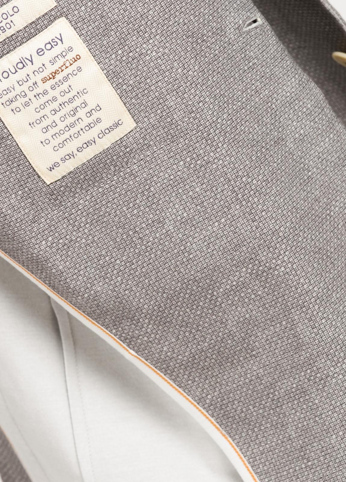 Americana soft 2 botones SLIM FIT esterilla color gris, Algodón. - Ítem1