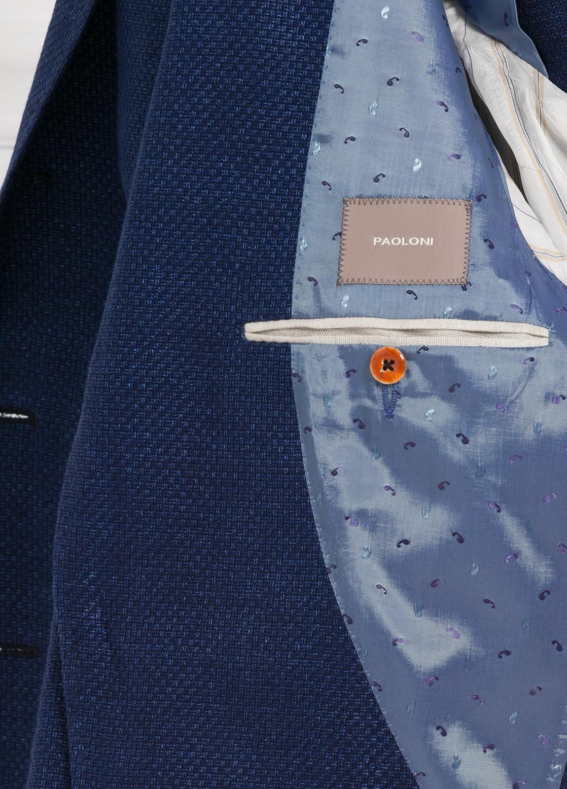 Americana 2 botones SLIM FIT color azul marino con botones al tono. 60% Lino 40% Algodón. - Ítem1