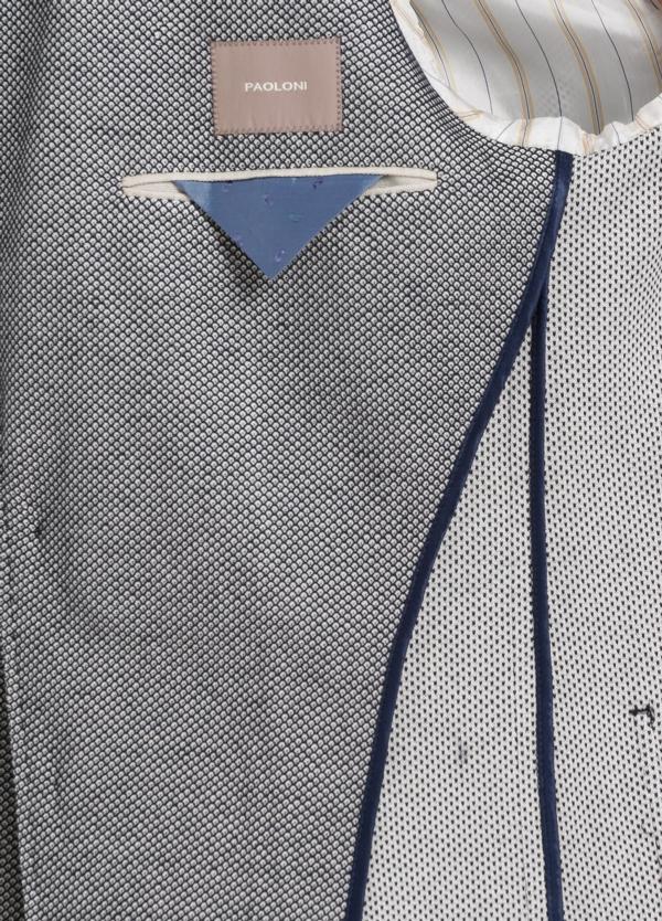 Americana 3 botones SLIM FIT color azul con botones al tono. 100% Algodón punto. - Ítem2