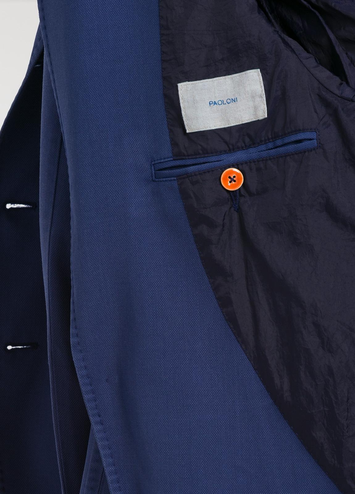 Americana 3 botones SLIM FIT color azul con botones al tono. 100% Lana lavada. - Ítem1