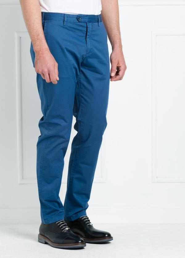 Pantalón chino REGULAR FIT modelo BRIAN color azul. 97% Algodón gabardina 3% Elastán. - Ítem1