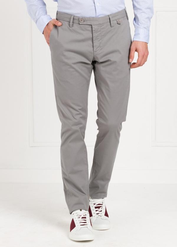 Pantalón Sport SLIM FIT , modelo JACK 02, color girs, 98% Algodón 2% Elastano.