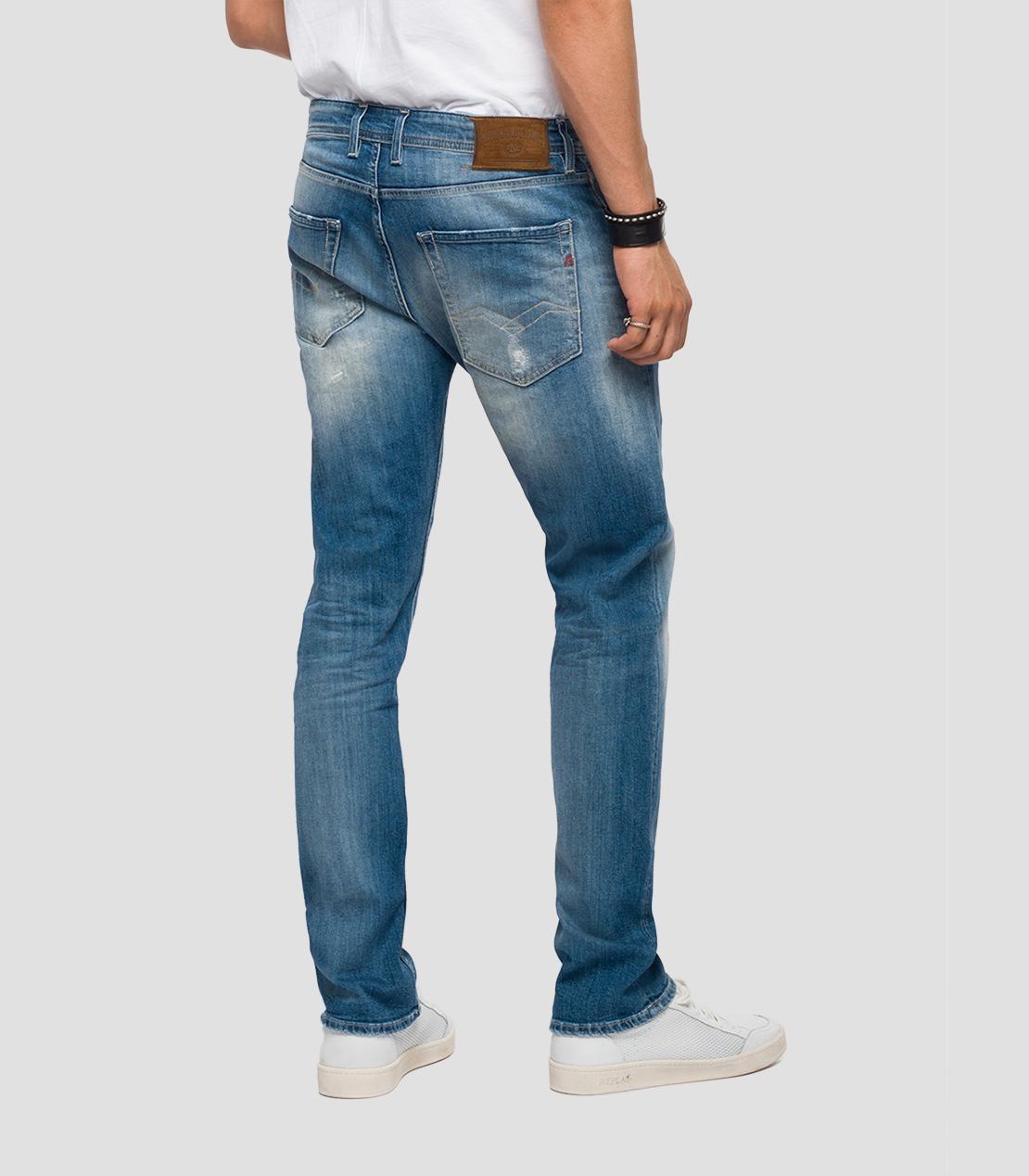Pantalón tejano 10,5 oz REGULAR 972 GROVER color azul medio lavado. 98% Algodón 2% Elastano. - Ítem1